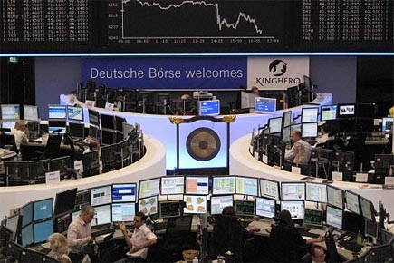 La Bourse de Francfort.... (Photo: Reuters)