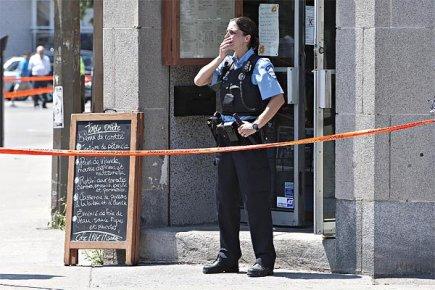 Un homme a pénétré à l'intérieur du café... (Photo: Patrick Sanfaçon, archives La Presse)