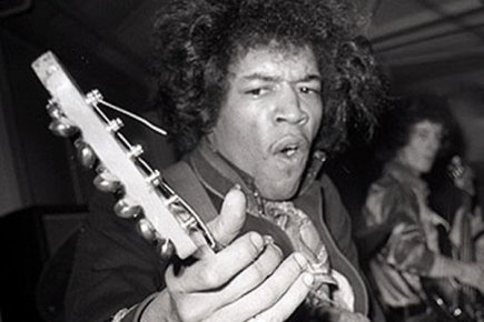 Le virtuose de la guitare électrique jimi hendrix photo