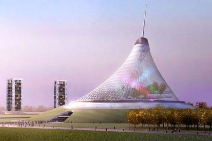 Avec ses 150 mètres, cette structure conçue par... (Photo fournie par Khan Shatyr)