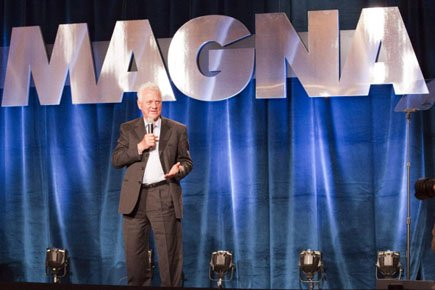 Le fondateur de Magna International Frank Stronach.... (Photo: Frank Gunn, PC)