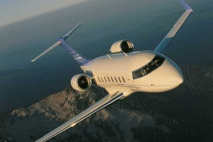 Un Challenger 605 en vol.... (Photo fournie par Bombardier)