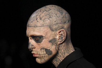 Zombie Boy... (Photo: AFP)