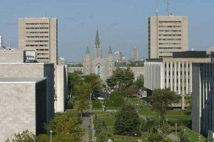 Le campus de l'Université Laval à Québec.... (Photo Alexandra Perron, Le Soleil)