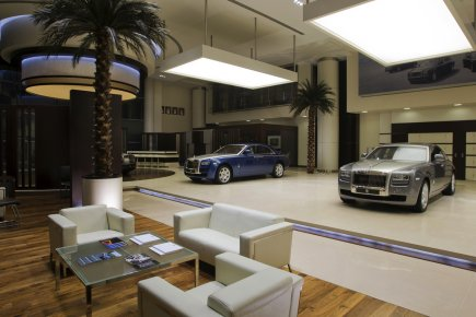 La salle de montre du concessionnaire Rolls Royce... (Photo fournie par Rolls Royce)