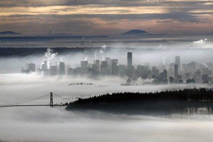 Un aperçu du centre-ville de Vancouver dans le... (Photo Reuters)