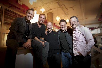 Jean-François Bouchard, Bertrand Cesvet, Philippe Meunier et Martin... (Photo: André Pichette, La Presse)
