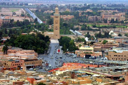 Le centre de Marrakech.... (Photo: archives AFP)