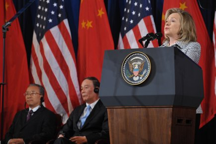 La secrétaire d'État américaine Hillary Clinton.... (Photo AFP)