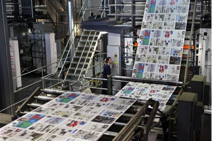 Une imprimerie de Transcontinental, à Anjou.... (Photo Robert Skinner, La Presse)