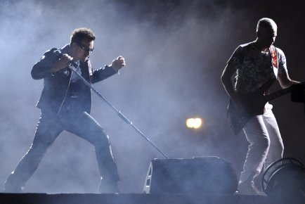 Le groupe U2 lors de son passage à... (photo La Presse)