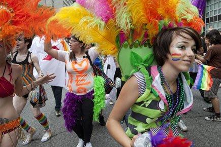 La communauté gaie lutte pour la tolérance... ... (Photo: Robert Skinner, archives La Presse)