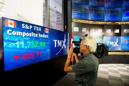 L'indice composé S&P/TSX a avancé de 76,23 points... (La Presse Canadienne)