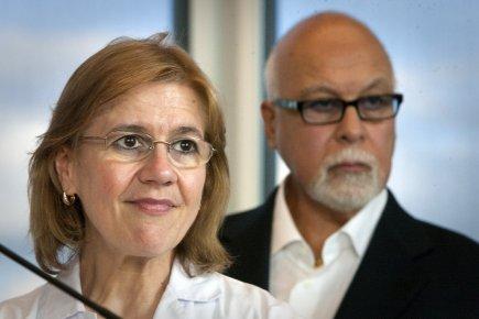 Dre Lyne Desnoyers et René Angelil.... (Photo: André Pichette, La Presse)