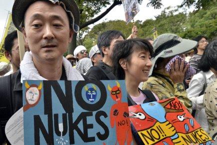 Des dizaines de milliers de manifestants ont exprimé... (Photo Yoshikazu Tsuno, archives Agence France-Presse)