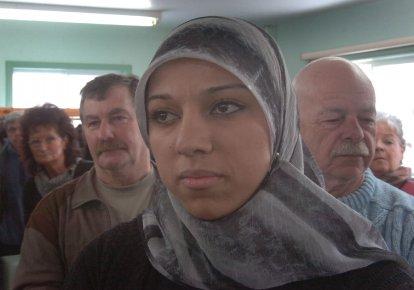 Mouna Diab lors de sa visite à Hérouxville... (Photo: Sylvain Mayer)