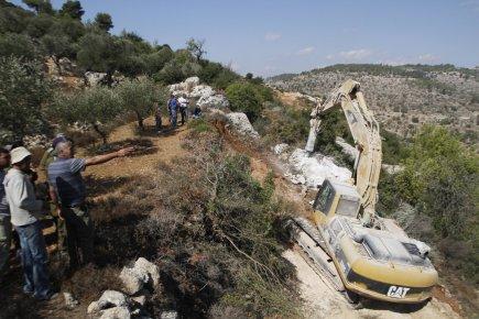 Au début du mois, des bulldozers israéliens préparaient... (Photo: Musa Al Shaer, Archives AFP)