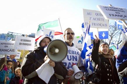Selon les manifestants, l'utilisation de noms de ... (Photo Marco Campanozzi, La Presse)