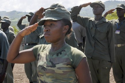 La Coordination nationale des militaires démobilisés (Forces armées... (Photo: Swoan Parker, Archives Reuters)