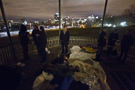 Des indignés se sont installés au parc du... (Photo: Martin Chamberland, La Presse)