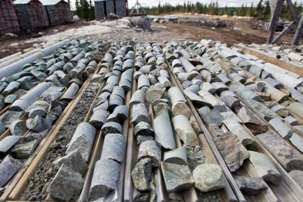 Des carottes de forage d'uranium dans le Nord... (Photo Hugo-Sébastien Aubert, La Presse)