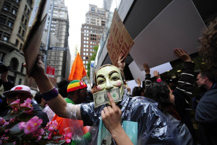 Le 17 septembre, Occupy Wall Street (OWS), qui... (Photo: AFP)