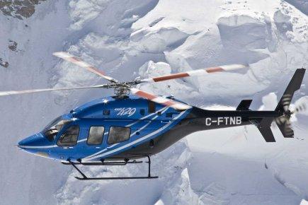 Avant son premier vol, l'appareil faisait déjà l'objet... (Photo fournie par Bell Helicoptere Textron Canada)