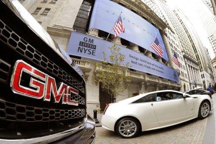 Le géant automobile américain General Motors (GM)a affiché... (AFP)