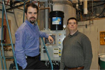 David Lemieux, président d'Innoltek, et son associé, Alain... (Photo fournie par Innoltek)