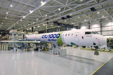 UnCRJ 1000 de Bombardier.... (Photo fournie par l'entreprise)