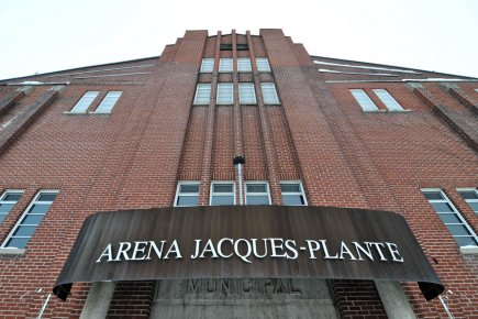 L'aréna Jacques-Plante... (Photo: Émilie O'Connor)