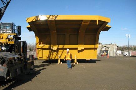 Une benne de camion gigantesque d'ASDR qui permettra... (Photo fournie par ASDR)