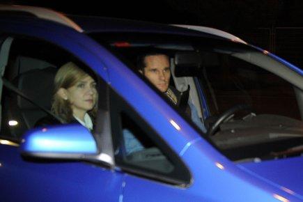 La princesse Cristina d'Espagne en compagnie de son... (Photo AFP)