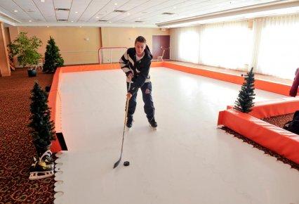 Une patinoire artificielle cr e en outaouais samuel for Patinoire exterieur montreal