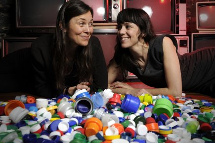 Chloé B. Fortin (à gauche) et Karine Lanoie... (Photo: Bernard Brault, La Presse)