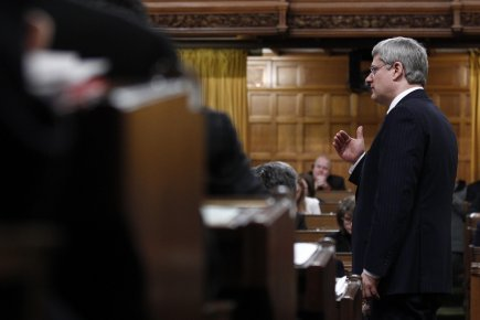 Le premier ministre Stephen Harper assure que ses... (Photo: Chris Wattie, Reuters)