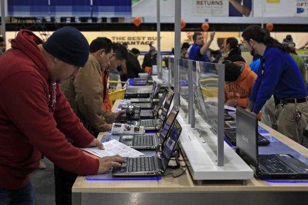 Les prix à la consommation ont baissé aux États-Unis en mai pour la première... (Photo Reuters)