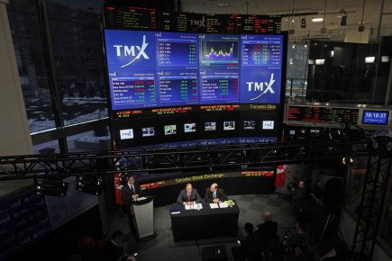 Centre médias de la Bourse de Toronto (TMX).... (Photo Reuters)
