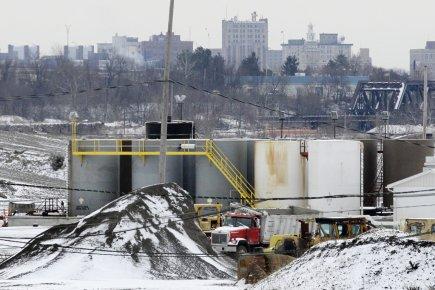 Les activités au puits de Youngstown avaient débuté... (Photo: Amy Sancetta, AP)
