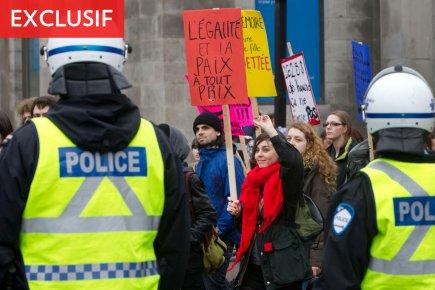 Une plainte de voies de fait a été déposée contre un policier à la suite d'une... (Photo: Robert Skinner, La Presse)