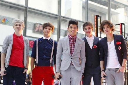 Les membres du groupe One Direction de gauche... (Photo: Brendan McDermid, Reuters)