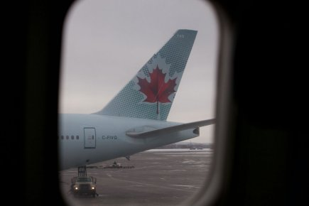 Les mécaniciens et bagagistes d'Air Canada(T.AC.B)passent à... (Photo Hugo-Sébastien Aubert, La Presse)