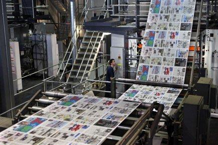 Transcontinental a annoncé mardi la fermeture de l'imprimerie... (Photo Robert Skinner, La Presse)
