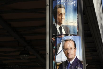 Nicolas Sarkozy et François Hollande.... (Photo Reuters)
