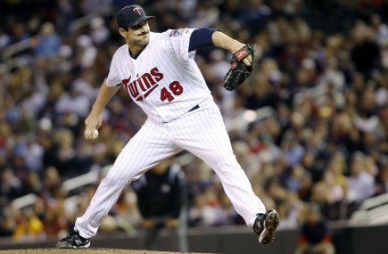 Le lanceur des Twins du Minnesota, Carl Pavano.... (Photo: ERIC MILLER, Reuters)