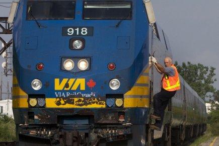 L'achalandage a poursuivi sa baisse au troisième trimestre chez Via Rail, ce... (Photo PC)