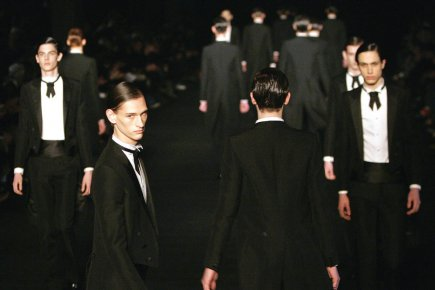 Défilé d'une collection 2006-2007 d'Hedi Slimane pour Dior.... (Photo d'archives François Mori, AP)