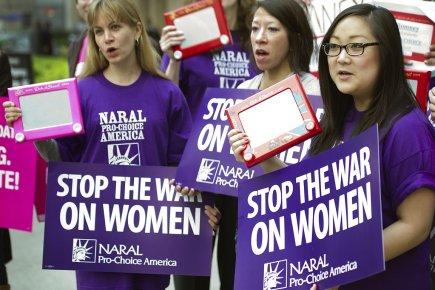 Des Américains pro-choix manifestaient le 22 mars dernier... (Photo: AFP)