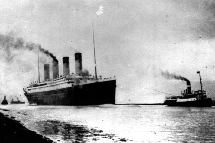Le Titanic, photographié le 10 avril 1912.... (Photo: archives PC)