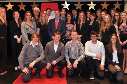 Les  récipiendaires du Programme de bourses Banque... (Photo: guzzophoto/MAC)